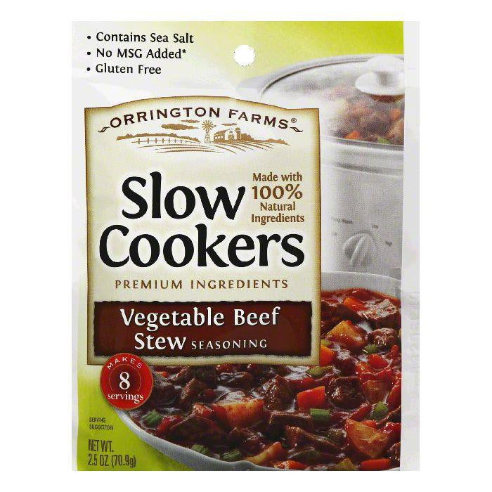 Orrington Farms Vegetable Beef Stew Slow Cookers Seasoning, 2.5 Oz (Pack of 12)