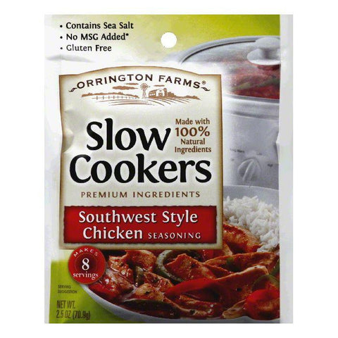 Orrington Farms Southwest Style Chicken Slow Cookers Seasoning, 2.5 Oz (Pack of 12)
