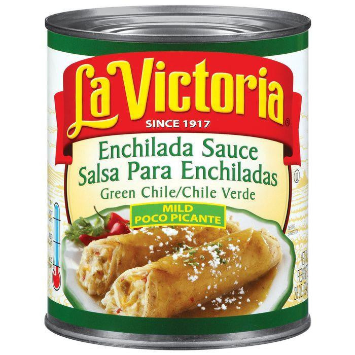 La Victoria Mild Enchilada Green Chile Sauce 28 Oz (Pack of 6)