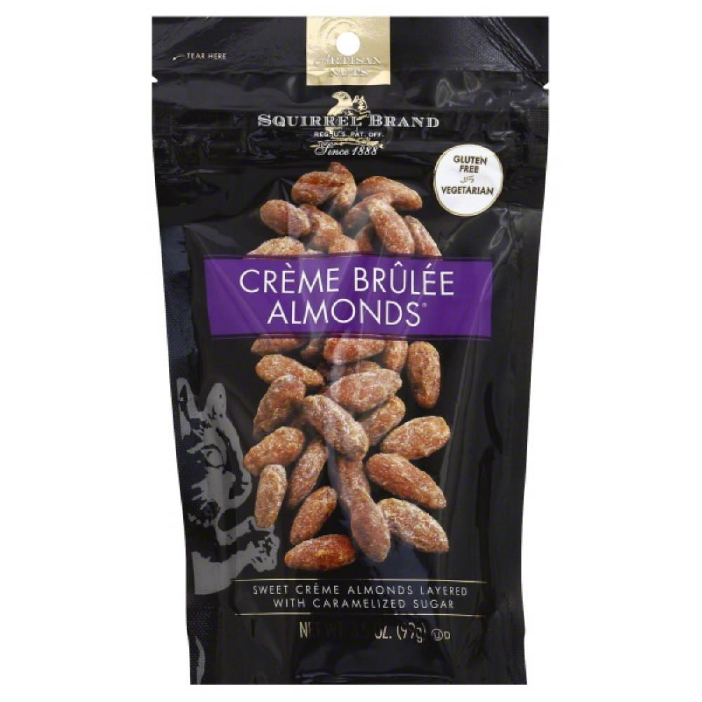 Squirrel Brand Creme Brulee Almonds, 3.5 Oz (Pack of 6)