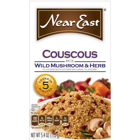 Near East Wild Mushroom & Herb Couscous Mix 5.4 Oz (Pack of 12)