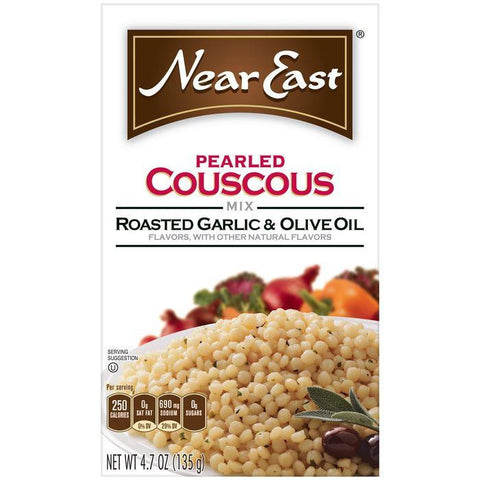 Near East Roasted Garlic & Olive Oil Pearled Couscous 4.7 Oz (Pack of 12)
