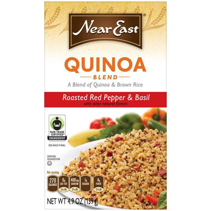NEAR EAST Roast Red Pepper & Basil Quinoa and Brown Rice 4.9 OZ (Pack of 12)