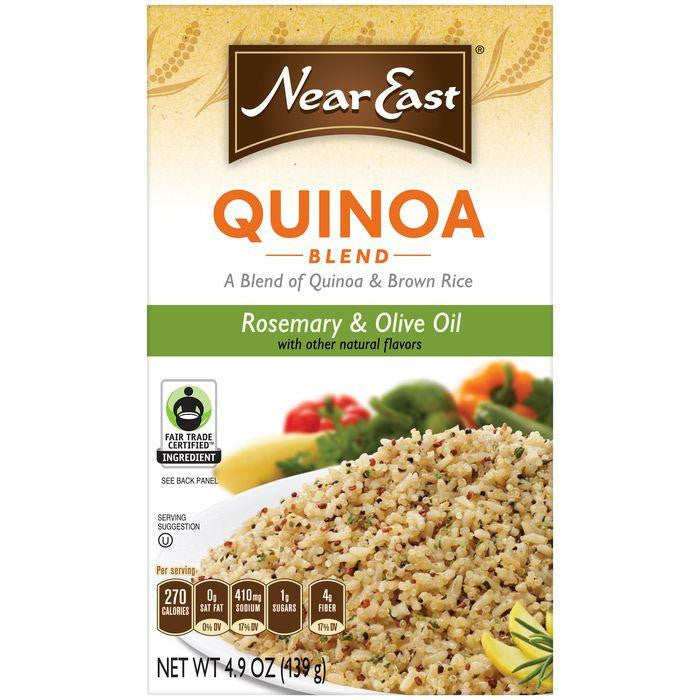 NEAR EAST Rosemary & Olive Oil Quinoa and Brown Rice 4.9 OZ (Pack of 12)