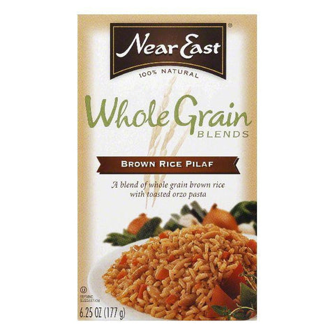 Near East Whole Grain Blends Brown Rice Pilaf, 6.2 OZ (Pack of 12)