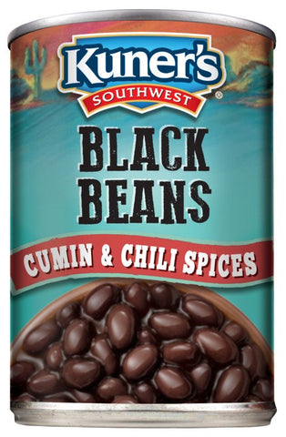 Kuner's Southwest Black Beans w/Chili Spices, 15oz (Pack of 12)