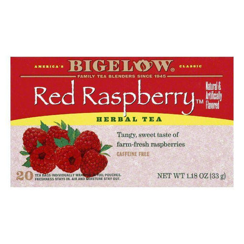 Bigelow Red Raspberry Herbal Tea, 20 BG (Pack of 6)