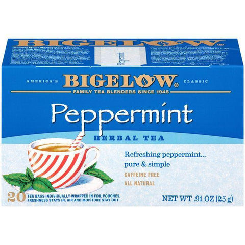 Bigelow Peppermint Herbal Tea 0.91 Oz (Pack of 6)