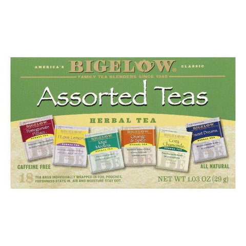 Bigelow Assorted Herbal Tea, 18 BG (Pack of 6)