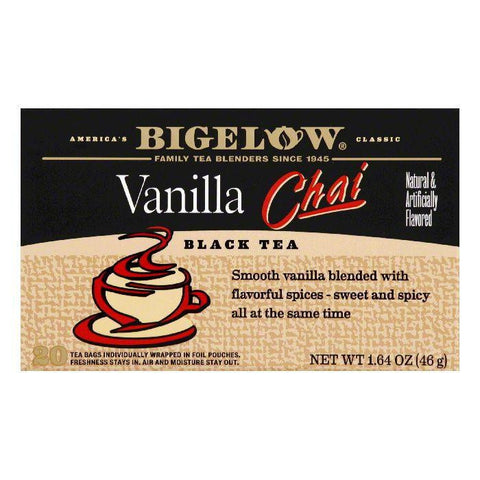 Bigelow Vanilla Chai, 20 BG (Pack of 6)