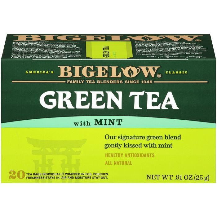 Bigelow Green Tea with Mint 0.91 Oz (Pack of 6)