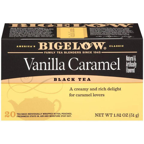 BigelowVanilla Caramel Black Tea Blend 20 ct (Pack of 6)