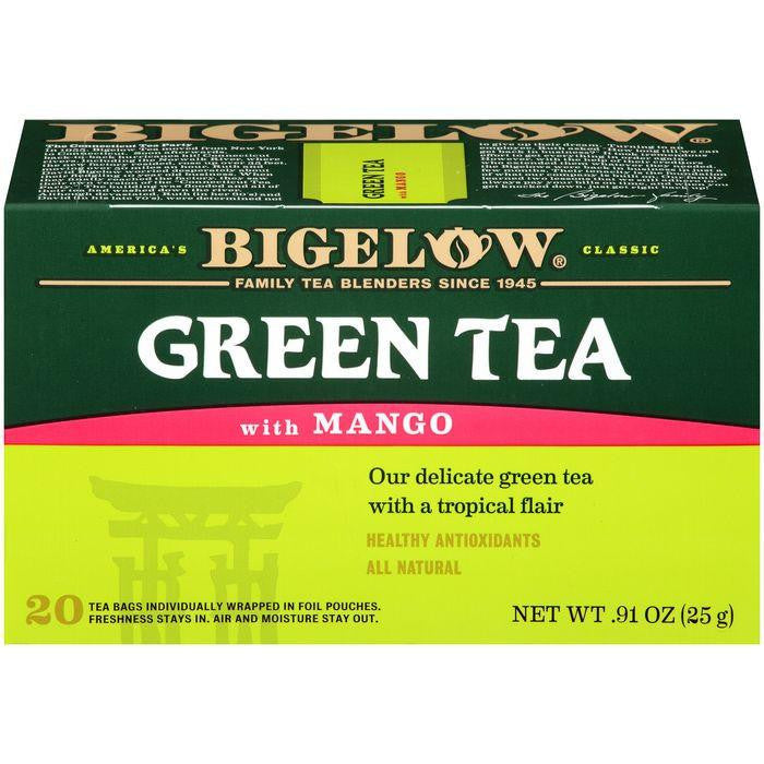Bigelow Green Tea with Mango 0.91 Oz (Pack of 6)