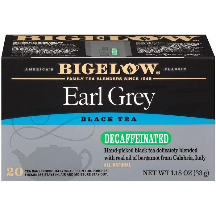 Bigelow Earl Grey Blend Decaffeinated Tea Bags 1.18 Oz (Pack of 6)