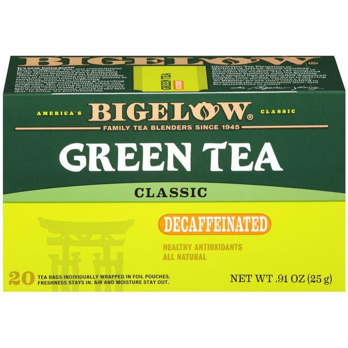 Bigelow Green Tea Classic Decaffeinated Tea Bags .91 Oz (Pack of 6)