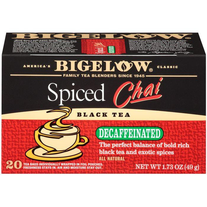 Bigelow Spiced Chai Decaffeinated Tea Bags 1.73 Oz (Pack of 6)