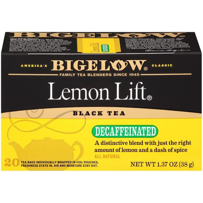 Bigelow Lemon Lift Black Blend Decaffeinated Tea Bags 1.37 Oz (Pack of 6)