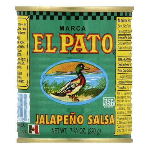 El Pato Jalapeno Salsa, 7.75 OZ (Pack of 24)
