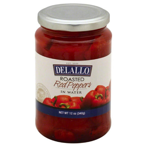 DeLallo Roasted Red Peppers in Water, 12 Oz (Pack of 12)