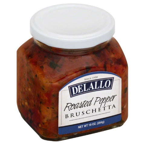 DeLallo Roasted Pepper Bruschetta, 10 Oz (Pack of 6)