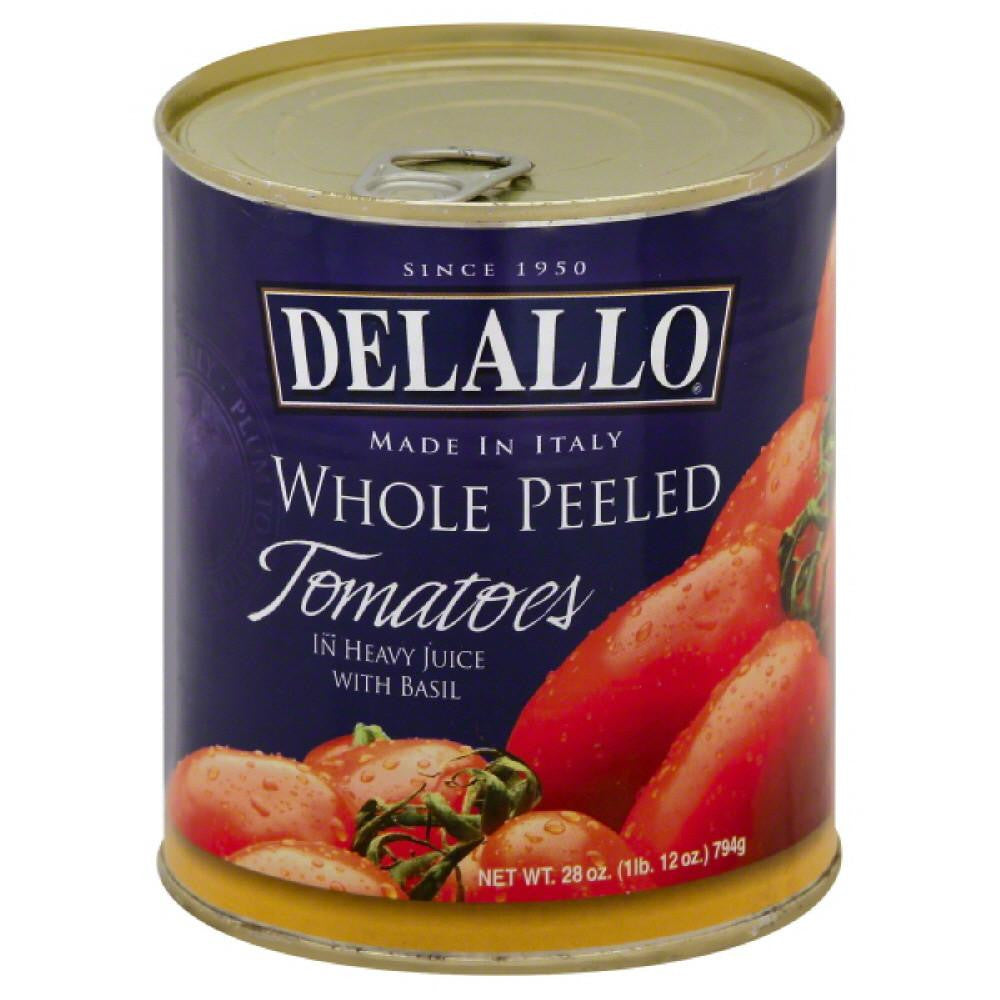 DeLallo Tomatoes Whole Peeled, 28 Oz (Pack of 12)