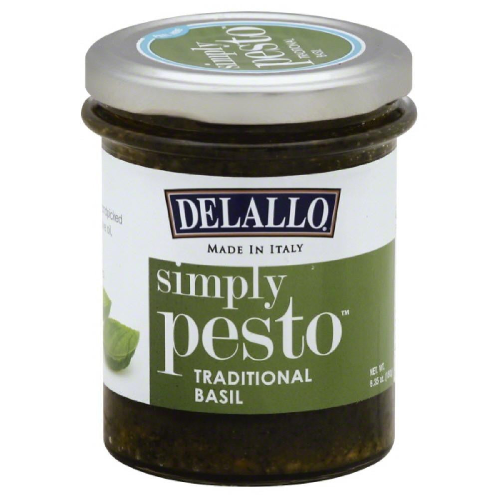 DeLallo Traditional Basil Pesto, 6.5 Oz (Pack of 12)