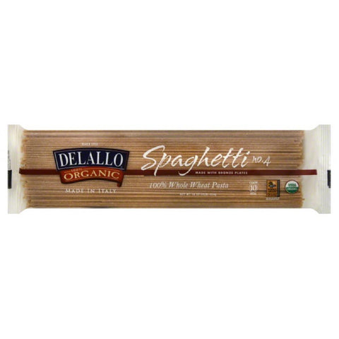 DeLallo No. 4 100% Whole Wheat Spaghetti, 16 Oz (Pack of 16)