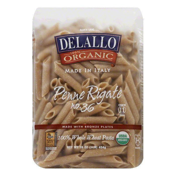DeLallo Whole Wheat Penne Rigate, 16 OZ (Pack of 16)