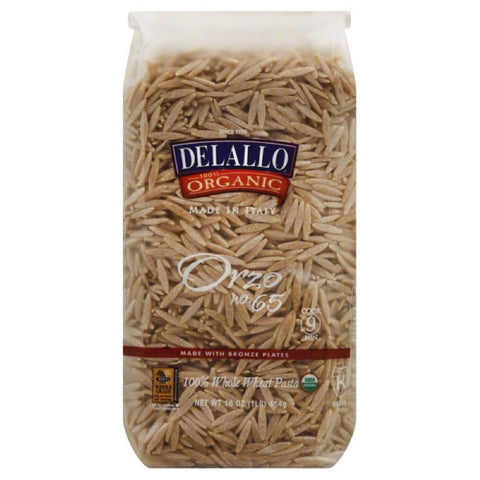 DeLallo No. 65 Orzo, 16 Oz (Pack of 16)