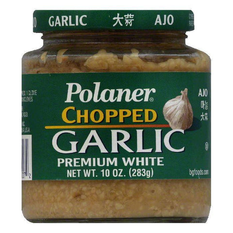 Polaner Premium White Chopped Garlic, 10 Oz (Pack of 12)
