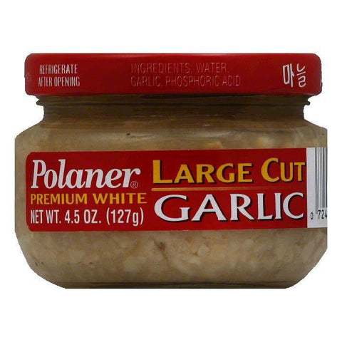 Polaner Premium White Large Cut Garlic, 4.5 Oz (Pack of 12)