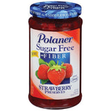 Polaner Strawberry Sugar Free W/Fiber Preserves 13.5 Oz  (Pack of 12)