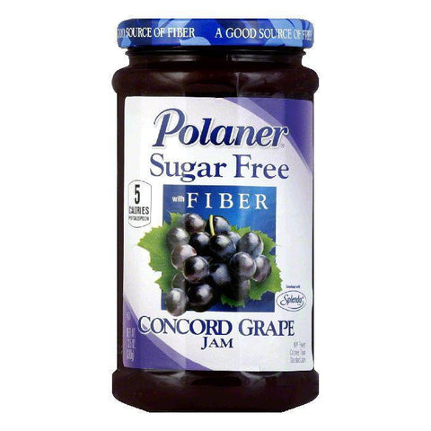 Polaner Grape Jam Sugar Free, 13.5 OZ (Pack of 12)