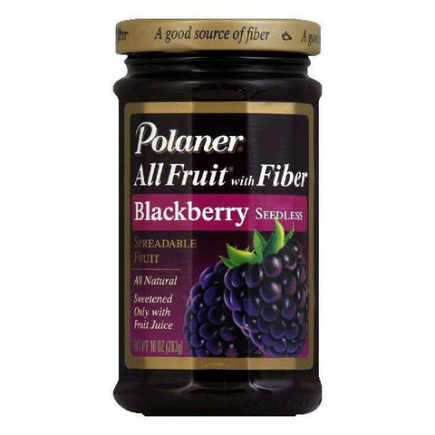 Polaner Fruit Spread Blackberry, 10 OZ (Pack of 12)