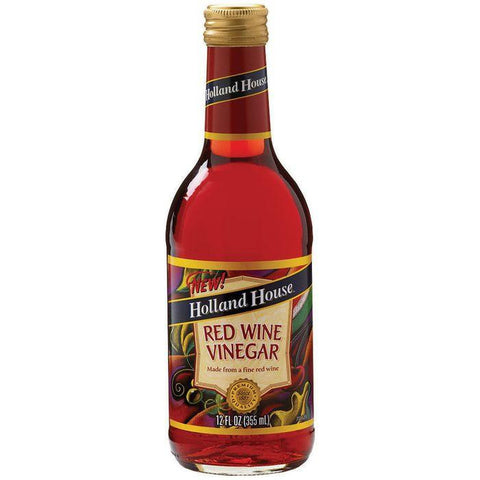 Holland House Red Wine Vinegar 12 Oz  (Pack of 6)