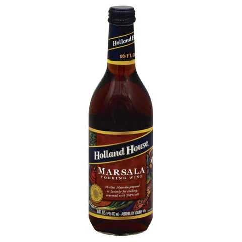 Holland House Marsala Cooking Wine, 16 Oz (Pack of 6)