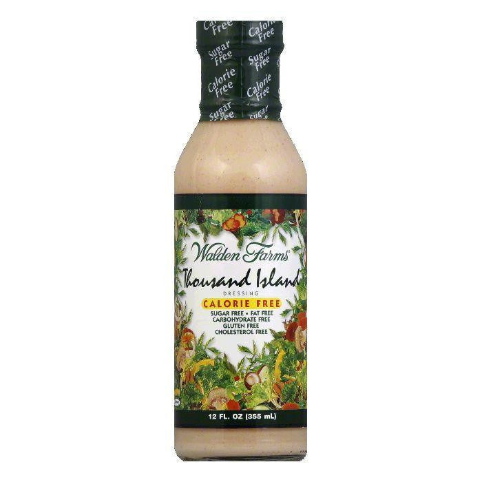 Walden Farms Salad Dressing 1000 Island Sugar & Calorie Free No Carb, 12 OZ (Pack of 6)