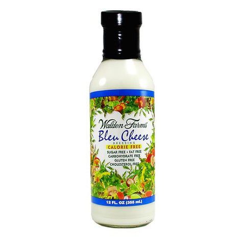 Walden Farms Salad Dressing Blue Cheese Sugar & Calorie Free No Carb, 12 OZ (Pack of 6)