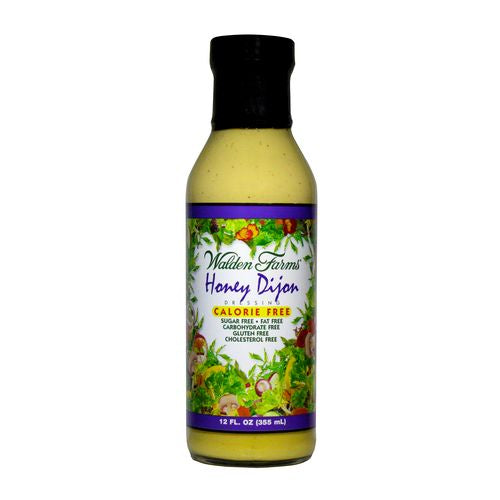 Walden Farms Salad Dressing Honey Dijon Sugar & Calorie Free No Carb, 12 OZ (Pack of 6)