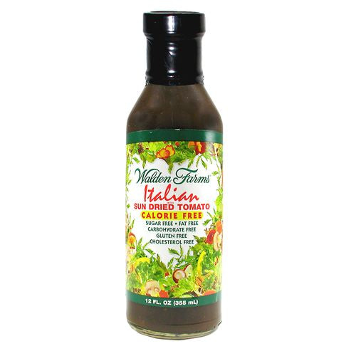 Walden Farms Italian with Sun Dried Tomato Dressing, 12 OZ (Pack of 6)