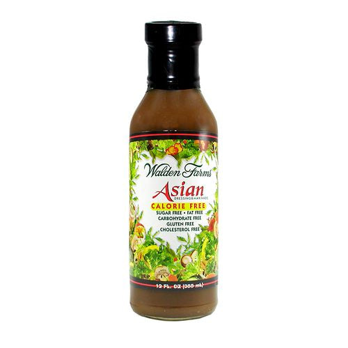 Walden Farms Asian Dressing & Marinade, 12 OZ (Pack of 6)
