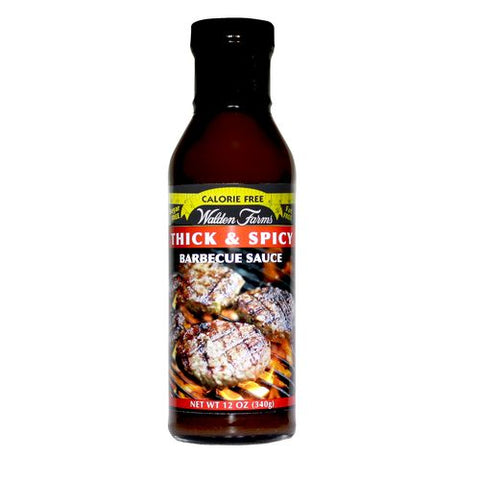 Walden Farms Thick & Spicy Barbecue Sauce, 12 OZ (Pack of 6)