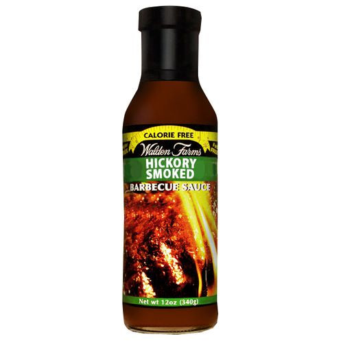 Walden Farms Sauce Hickory BBQ, 12 OZ (Pack of 6)