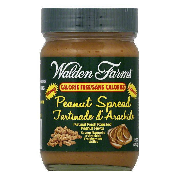Walden Farms Creamy Peanut Spread, 12 OZ (Pack of 6)