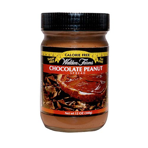 Walden Farms Chocolate Peanut Spread, 12 OZ (Pack of 6)