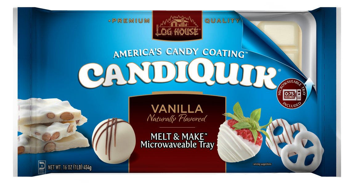 Log House Candiquick Vanilla, 16 OZ, (Pack of 12)