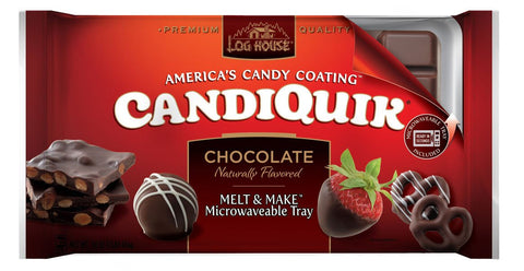 Log House Candiquick Chocolate, 16 OZ, (Pack of 12)