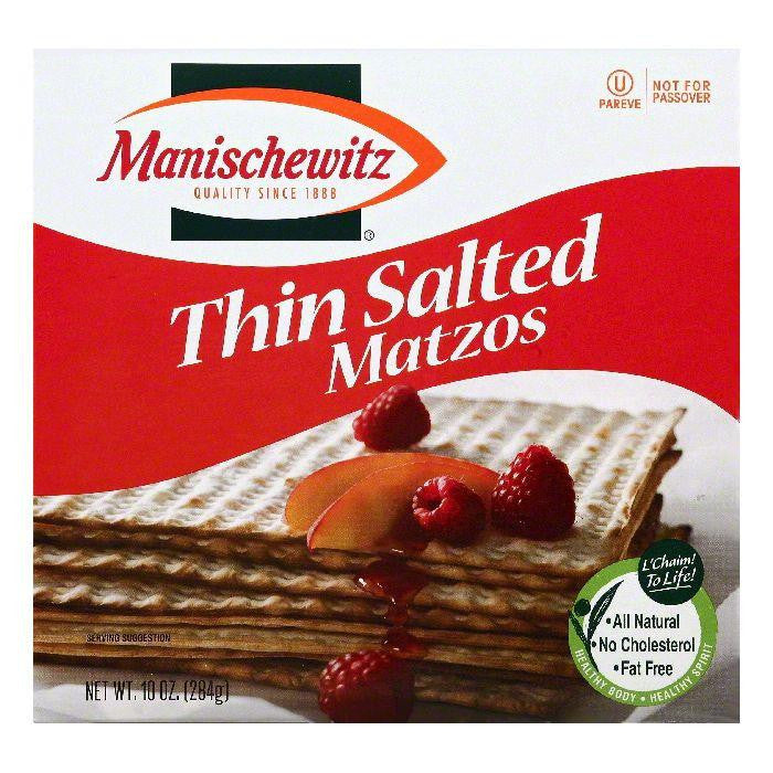 Manischewitz Salted Thin Matzos, 10 OZ (Pack of 12)