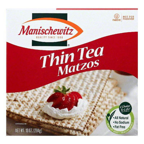 Manischewitz Tea Thin Matzos, 10 OZ (Pack of 12)