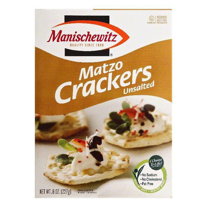 Manischewitz Unsalted Matzo Crackers, 8 OZ (Pack of 6)